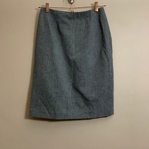 346 brooks brother skirt gray wool 98% sz2